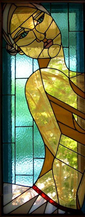 À fleur de peau, vitrail, 2006