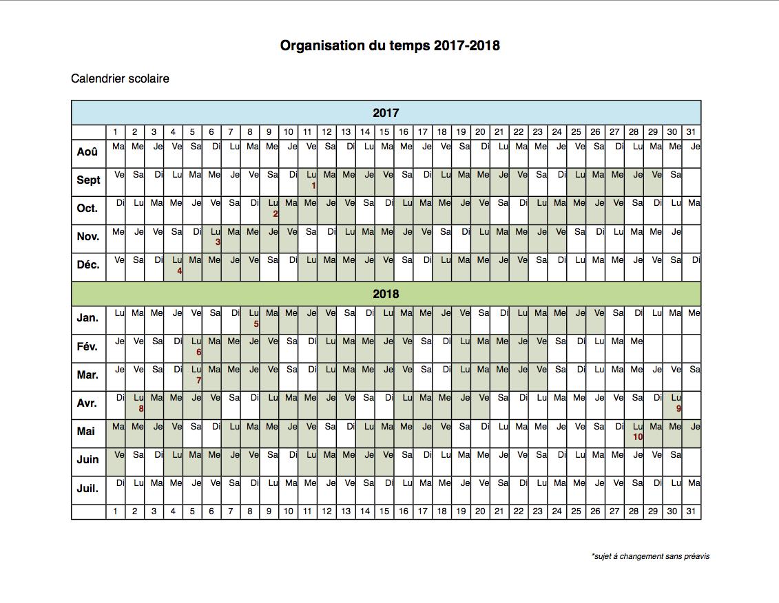 calendar, calendrier