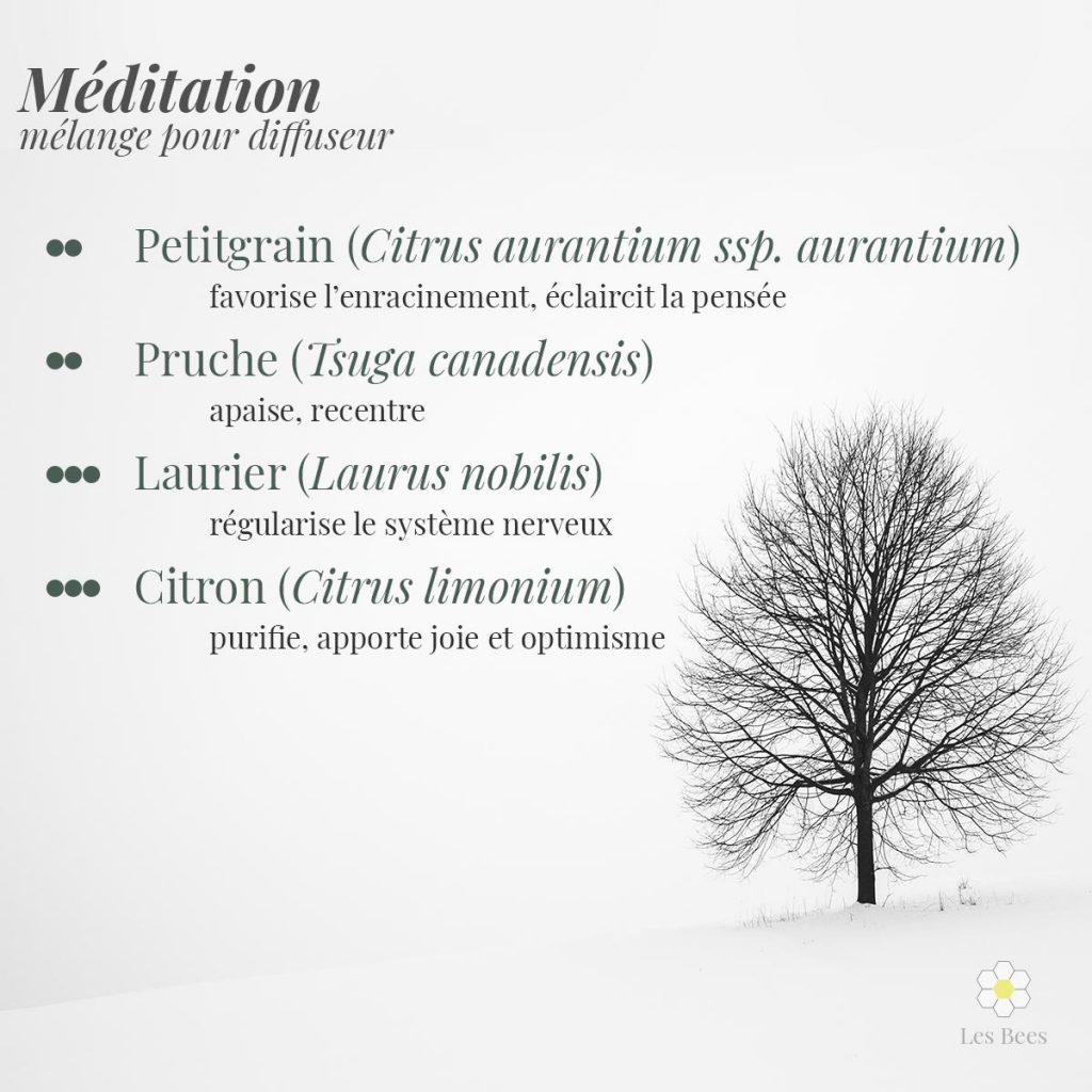 huiles essentielles diffusion méditation